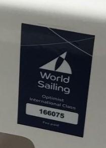 Sample World Sailing Plaque